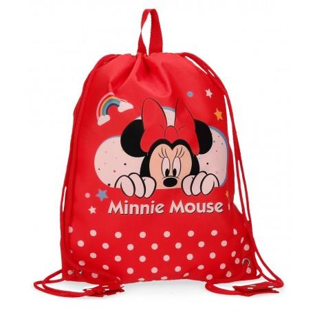 Bolsa de Merienda Infantil Minnie Rainbow Rojo