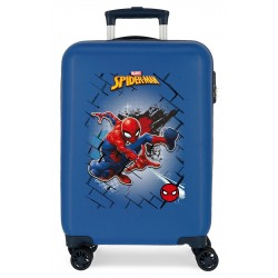 Maleta Cabina Rígida en ABS de 4 Ruedas  Spiderman Red Azul