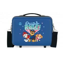 Neceser Adaptable a Trolley con Bandolera Paw Patrol Pups Rule Azul