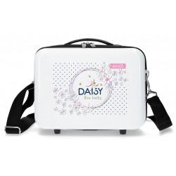 Neceser Rígido en ABS Adaptable a Trolley  Enso Daisy Blanco