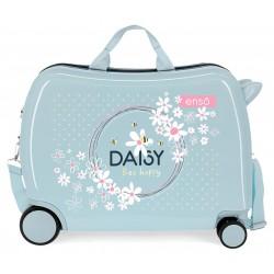 Maleta Infantil Correpasillos Rígida en ABS de 4 Ruedas Enso Daisy Azul