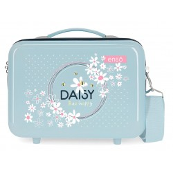 Neceser Rígido en ABS Adaptable a Trolley Enso Daisy Azul