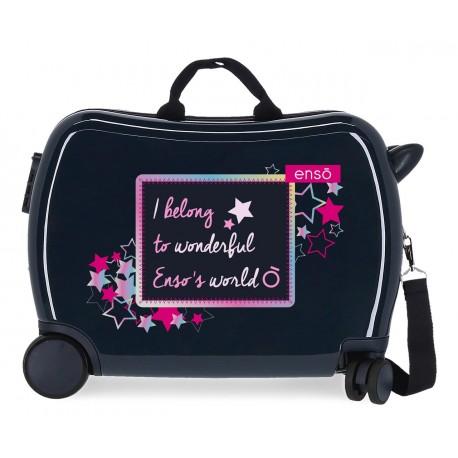 Maleta Infantil Rígida en ABS de 4 Ruedas Enso Make a Wish Marino