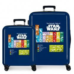 Juego Maletas Cabina y Mediana Rígidas en ABS de 4 Ruedas Star Wars BAdges The Periodic Table Azul