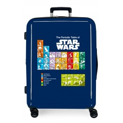 Maleta Mediana EXTENSIBLE Rígida de 4 Ruedas Star Wars Badges The Periodic Table Azul