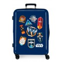 Maleta Mediana EXPANDIBLE Rígida de 4 Ruedas Star Wars Badges Space Mission Azul