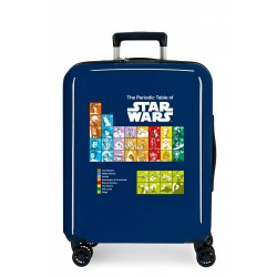 Maleta Cabina Rígida en ABS de 4 Ruedas Star Wars Badges The Periodic Table Azul