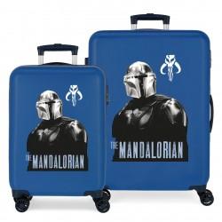 Juego Maletas Cabina y Mediana Rígidas en ABS de 4 Ruedas  Star Wars The Mandalorian Azul