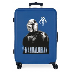Maleta Mediana Rígida en ABS de 4 Ruedas Star Wars The Mandalorian Azul