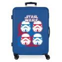 Maleta Mediana Rígida en ABS de 4 Ruedas Star Wars Droids Vader Azul