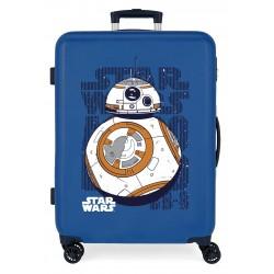 Maleta Mediana Rígida en ABS de 4 Ruedas  Star Wars Droids BB8 Azul