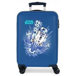 Maleta Cabina Rígida en ABS de 4 Ruedas Star Wars Droids R2-D2 Azul