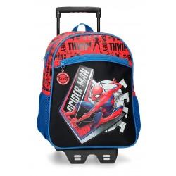Mochila Infantil 33cm. Spiderman Great Power con Ruedas