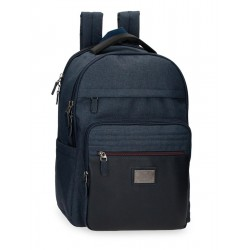 Mochila Portaordenador/Tablet 44 cm Adaptable a Trolley Pepe Jeans Britway