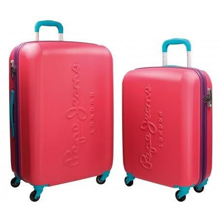 Juego 2 Trolleys Pepe Jeans Tricolor Rojo Coral