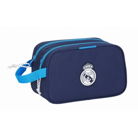 Neceser Doble Comapartimento Real Madrid Azul