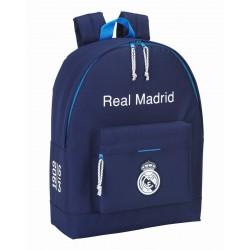Mochila Real Madrid Bolsillo Frontal Azul
