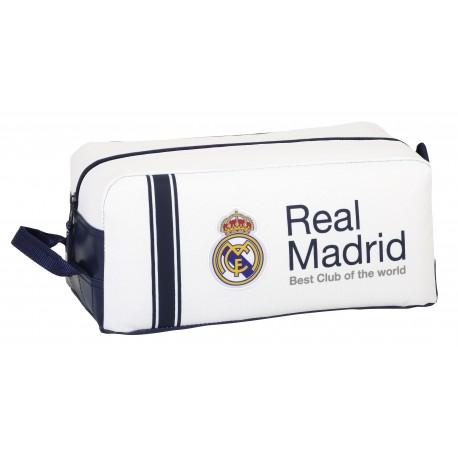 Zapatillero  Real Madrid 34 cm Blanco y Azul