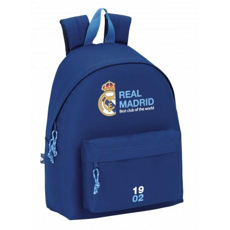 Mochila Real Madrid con Bolsillo Frontal Azul