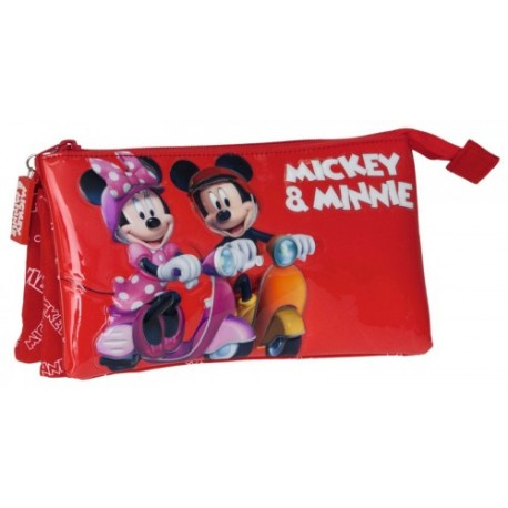 Estuche triple Minnie Mickey 15343