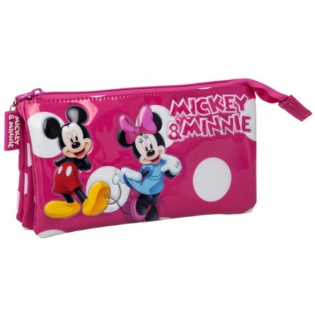 Estuche triple Minnie Mickey 2074351