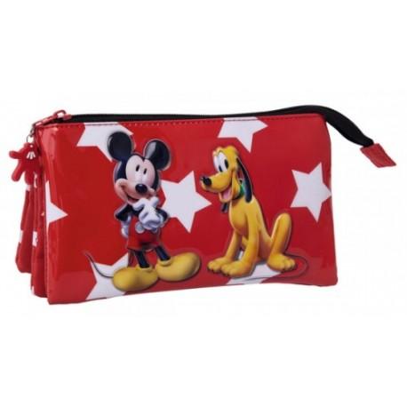 Estuche triple Mickey y Pluto  2064351
