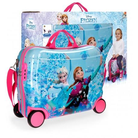 Maleta Infantil Correpasillos  4 Ruedas Frozen Star con Asa y Bandolera