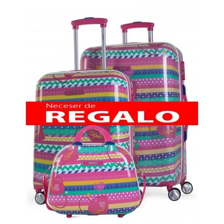 Set maleta cabina y mediana SKPA T Colección Africa en Policarbonato
