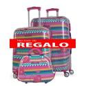Set maleta cabina y mediana SKPA T  + REGALO DE NECESER Colección Africa en Policarbonato