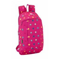 Mochila Urbana Pequeña de Benetton Dots Pink