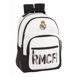 Mochila Doble Compartimento Reforzada con cantoneras de Goma del Real Madrid Primera División
