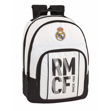 Mochila Doble Compartimento y Bolso Frontal Adaptable a Trolley del Real Madrid Primera División