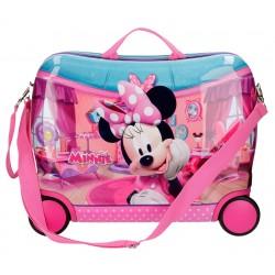 Maleta Infantil Minnie Smile, 4 Ruedas, en ABS