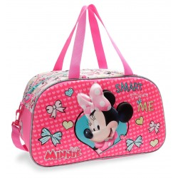Bolsa de Viaje 44 cm Minnie Happy Helpers, en Relieve 3D, con Asa y Bandolera