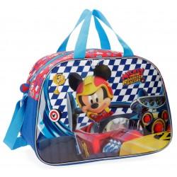 Bolsa de Viaje  40 cm Mickey Racers con Asa y Bandolera