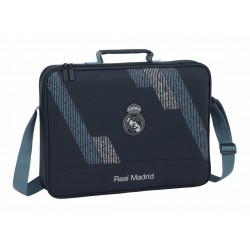 Cartera Extraescolar Real Madrid Dark Grey con Asa y Bandolera
