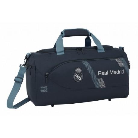 Bolsa de Deportes o Viaje Real Madrid Dark Grey con Asa y Bandolera