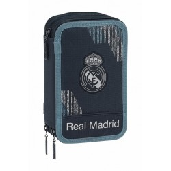 Plumier de 3 Compartimentos, 41 piezas, Real Madrid Dark Grey