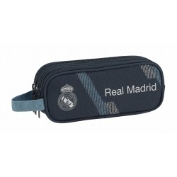 Portatodo Tres Compartimentos Real Madrid Colección Dark Grey