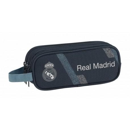 Portatodo Tres Compartimentos Real Madrid Colección Dark Grey