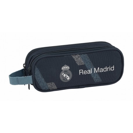 Portatodo 2 Compartimentos Real Madrid Colección Dark Grey