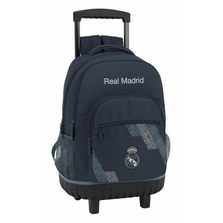 Mochila Real Madrid, Colección Dark Grey,  con Refuerzo de Goma