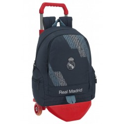 Mochila Real Madrid, Dark Grey, con Carro Rojo Premium