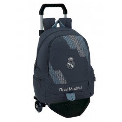 Mochila Real Madrid, Dark Grey, con Carro Negro  Premium