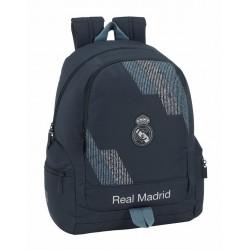 Mochila Real Madrid, Colección Dark Grey, con Bolsos Laterales