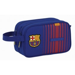 Neceser del FC Barcelona de 2 Cremalleras y Asa Latgeral