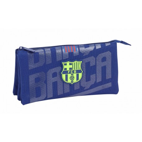 Portatodo Tres Compartimentos FC Barcelona, Azul
