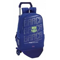 Mochila Grande FC Barcelona con Carro en Azul