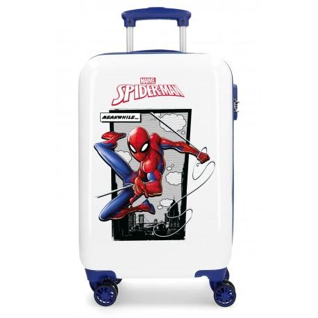 Maleta de Cabina Spiderman Action de 4 Ruedas y ABS