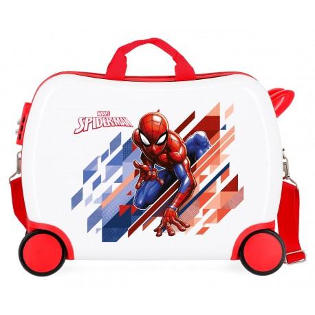 Maleta Correpasillos 50 cm Spiderman Geo en 4 Ruedas